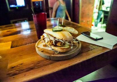 Chicken sandwich at The Eagle OTR (photo: Dan Ledbetter)