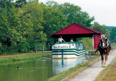 Horse Drawn Canal Boat at Metamora (Photo: FCCRVC)