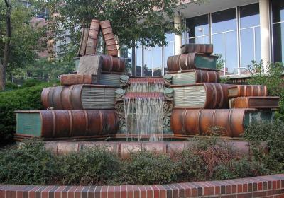 Book Fountain at Main Library (photo: Public Library of Cincinnati and Hamilton County)