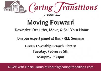 Moving Forward: Downsizing, Decluttering, Moving, & Selling FREE SEMINAR