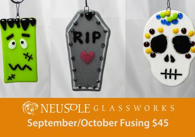 Fused Glass Halloween Ornaments