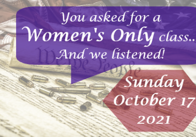 Women's Only Conceal Carry Certification Training