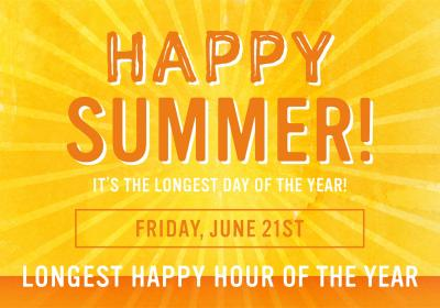 Longest Happy Hour of the Year