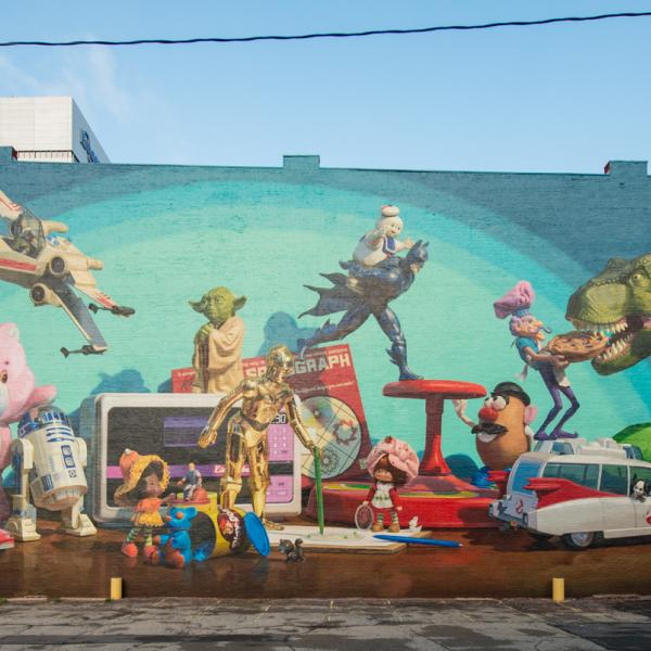 Toy Heritage mural