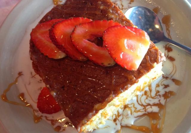 Tres leches cake at Chuy's