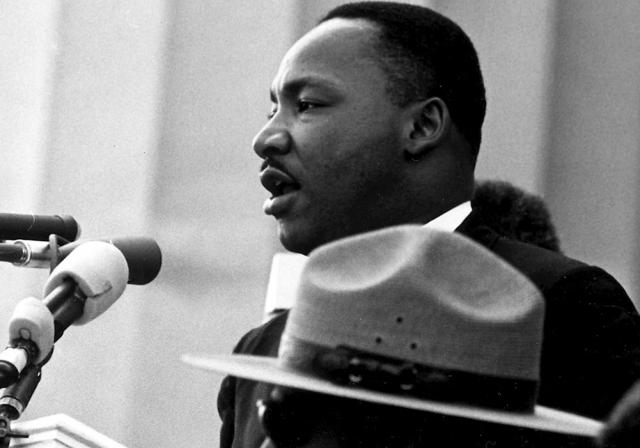 Dr. Martin Luther King, Jr. delivering his I Have a Dream Speech at the Civil Rights March on Washington, D.C. 08/28/1963 ARC Identifier 542069