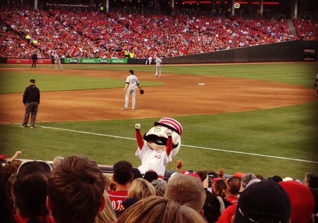 Mr. Redlegs, Cincinnati Reds at Great American Ball Park