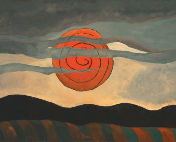 Arthur G. Dove, Red Sun, 1935, oil on canvas, 20 1/4 x 28 in. The Phillips Collection, Washington, D.C. Acquired 1935