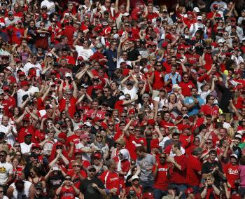 Reds fans at Great American Ball Park (photo: Jeff Swinger)