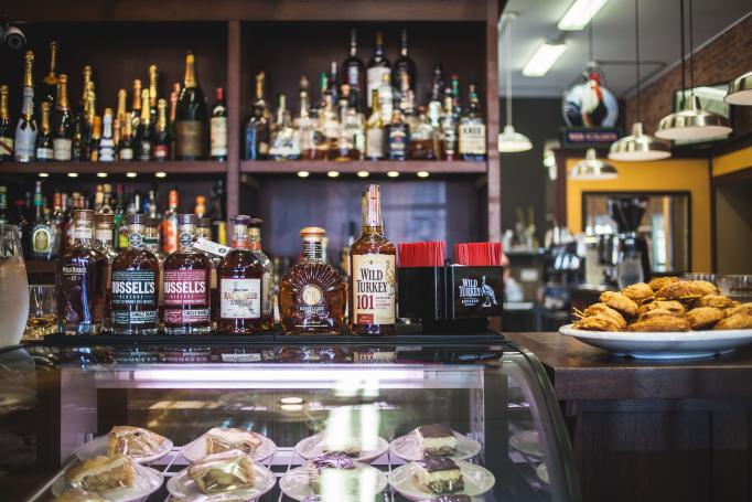Prohibition Bourbon Bar at Newberry Bros. Coffee, part of The B-Line (photo: Jessica Cunningham)