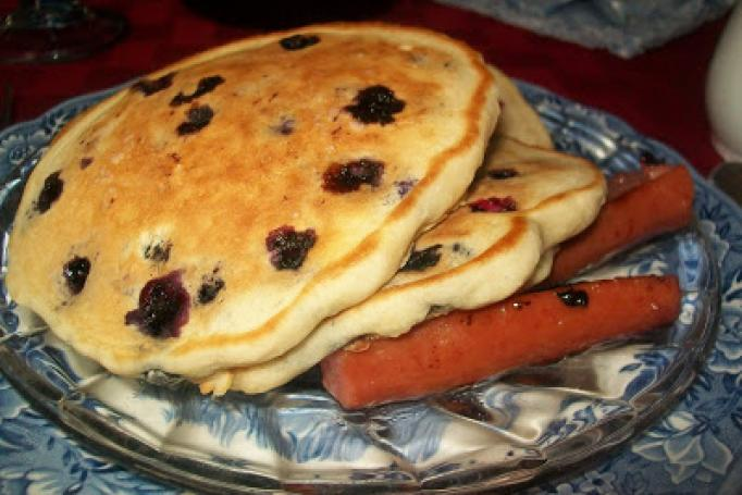 Blueberry pancakes at Weller Haus Bed & Breakfast (photo: Heather Johnson)
